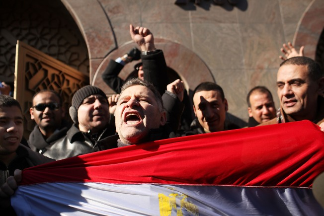 Local Egyptians Celebrate After Mubarak Steps Down