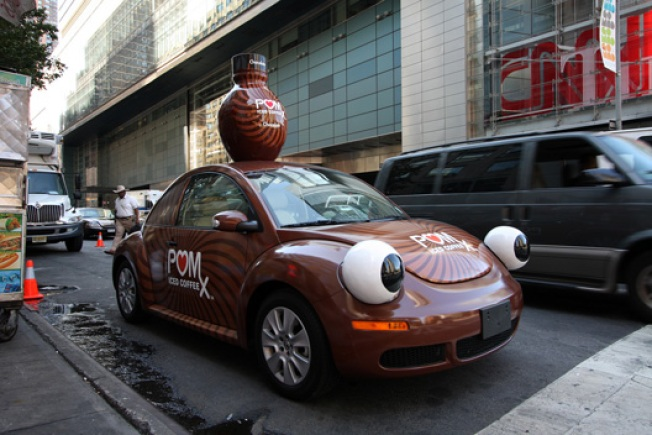Ad on Wheels: POM's Brown Beetle