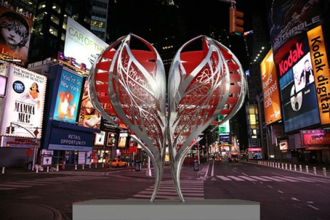 Times Square Gets a Heart