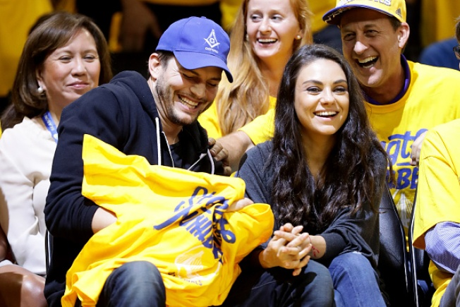 Ashton and Mila Cheer Team USA During Olympic Ceremony