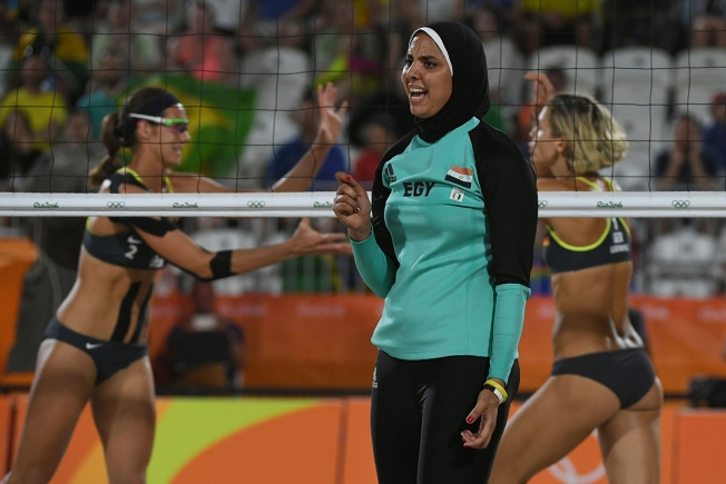 Egyptian Beach Volleyball Players Wear Long Sleeves, Pants