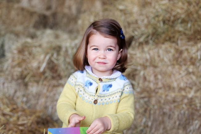 Royals release photo of Princess Charlotte before her 2nd birthday