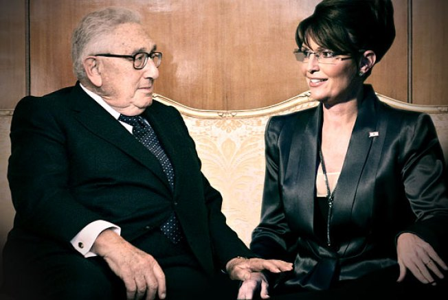 Imaginary Eavesdropping on Sarah Palin and Henry Kissinger