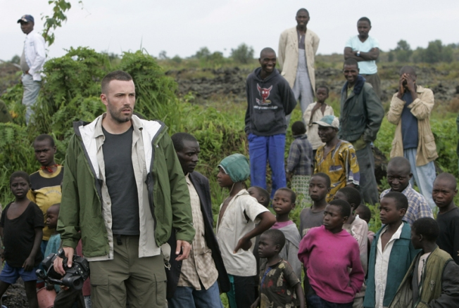 "Affleck Sees ""Tremendous Suffering"" in Congo"