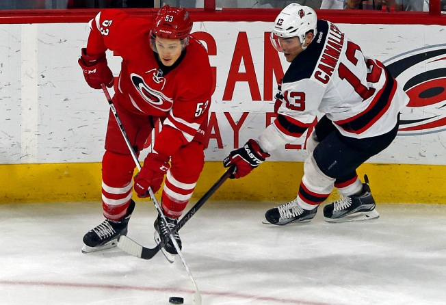 Devils Blown Away by Hurricanes 3-1