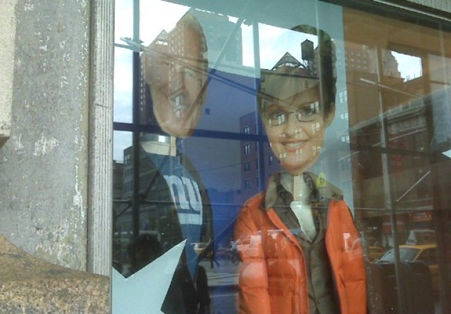 Rothman's Puts Political Mannequins in Windows, Loses Sarah Palin's Head