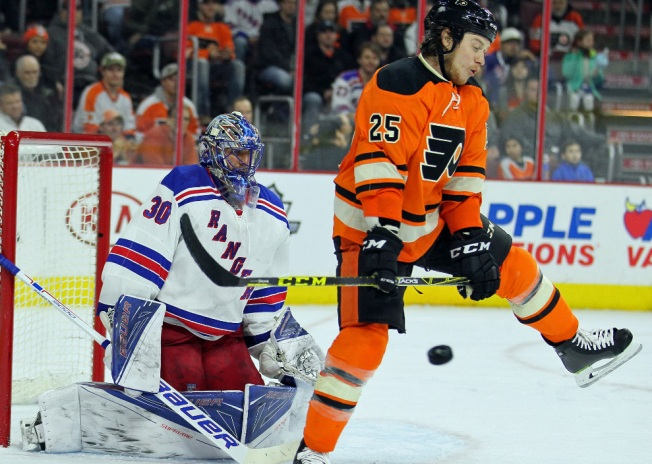 Rangers Nip Flyers 3-2 in Shootout