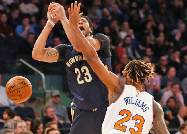 Melo Leads Knicks Past Pelicans, 95-87