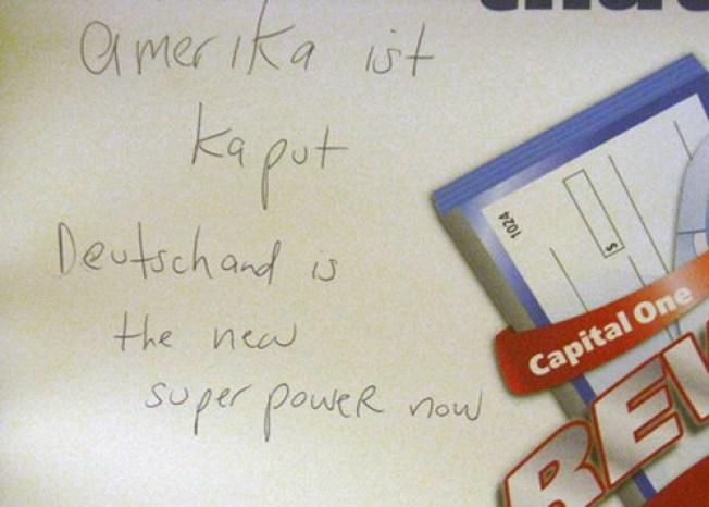 In Greenpoint: 'Amerika ist Kaput' & Deutschland Rules