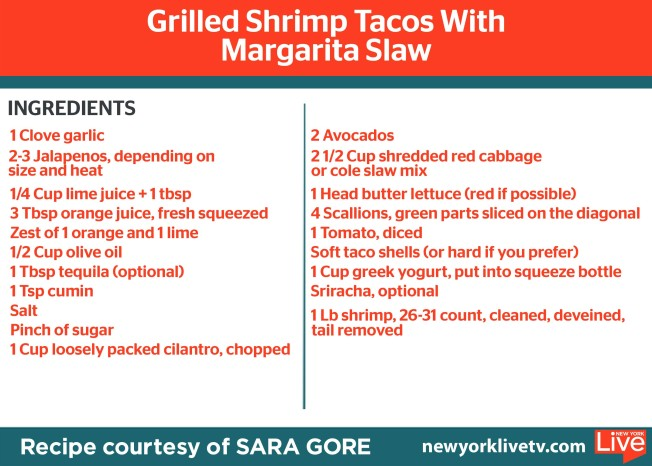 Sara's Grilled Shrimp Tacos with Margarita Slaw