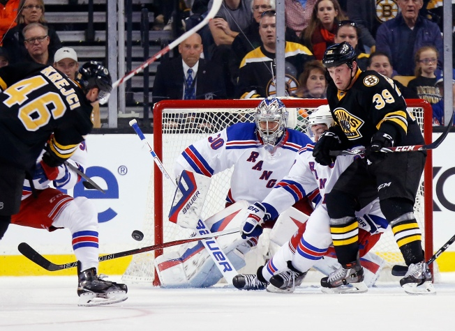 Bruins Extend Streak With 4 3 Win Over Rangers Nbc New York