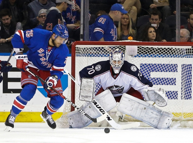New York Rangers Win In Eric Staal's Debut Over Columbus Blue Jackets