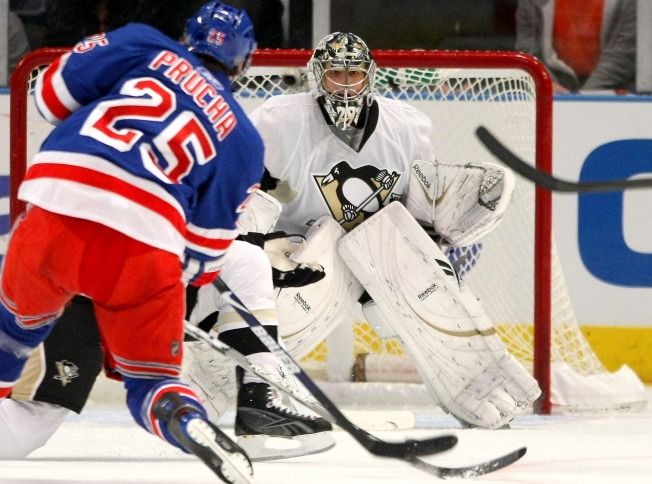 Prucha's Late Goal Propels Rangers Over Pens