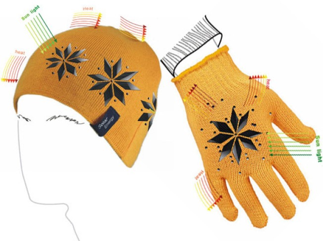 Warm Up With Solar-Powered Hat and Gloves
