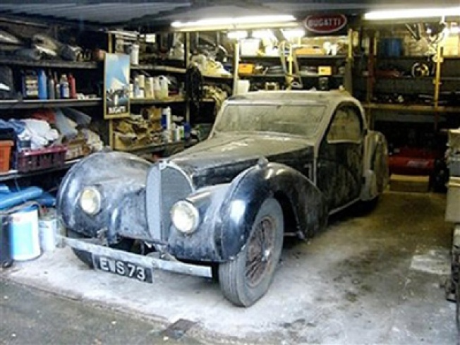 Rare Bugatti Roadster Found in Garage