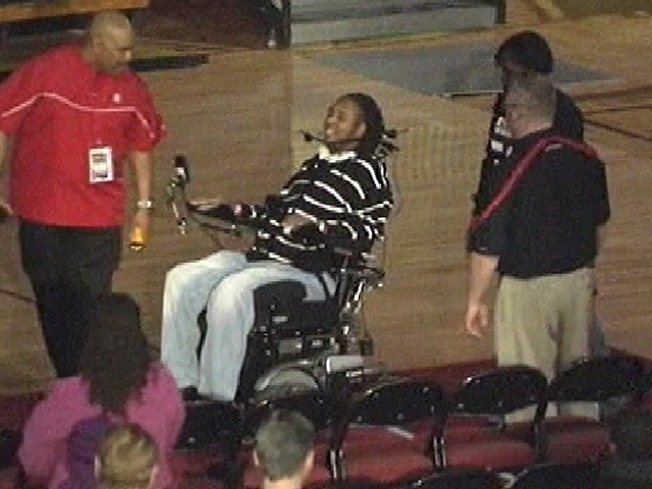 Paralyzed Football Player Upbeat in First Public Appearance