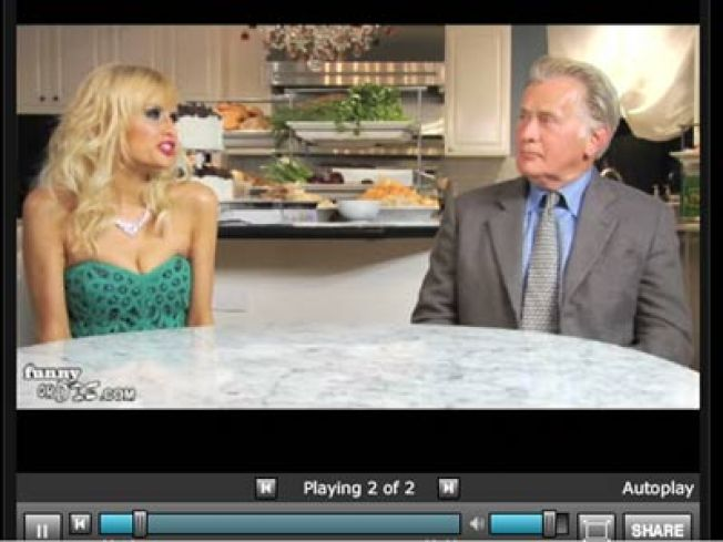 Paris Hilton Seeks Fake Presidential Advice from Martin Sheen