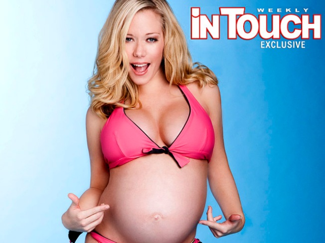 Pregnant Kendra Poses in Itsy Bitsy Bikini for Cover Shoot
