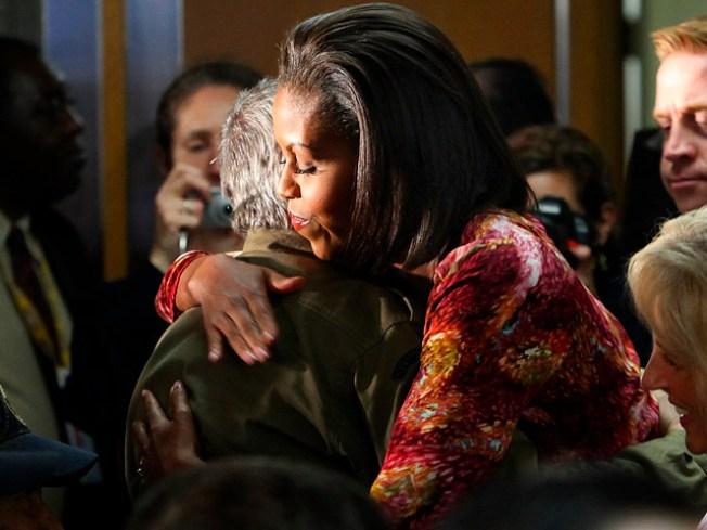Mrs. Obama, Biden Get a Warm Bronx Greeting