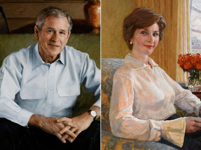 "Say ""Cheese!!"" Bush Portraits Unveiled"