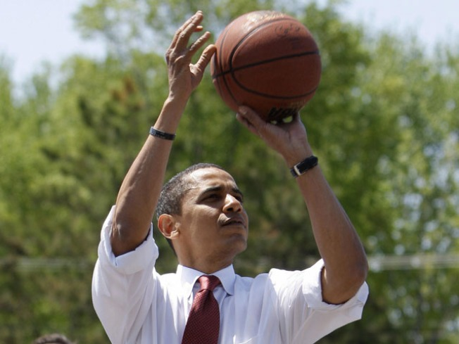 First Baller: Obama Hits Court at DC School