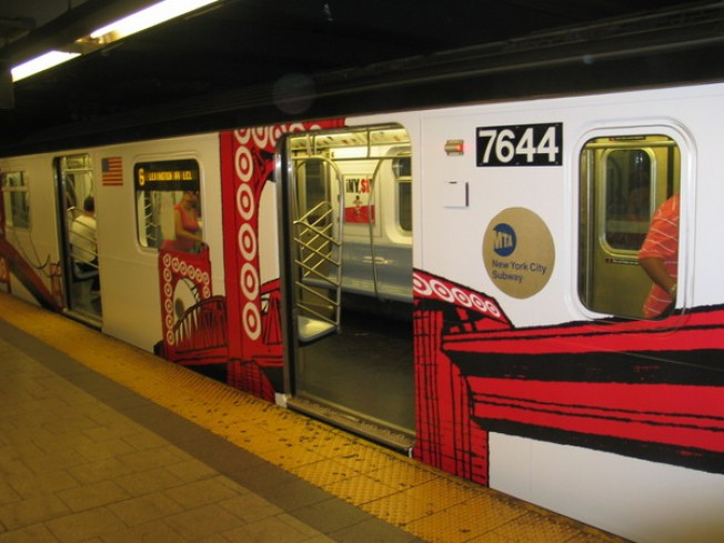 MTA Wraps Subway in Train-Length Ad