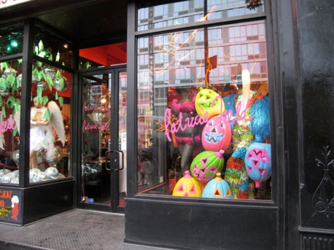 In The Window: Pat Field Goes Day-Glo for Halloween