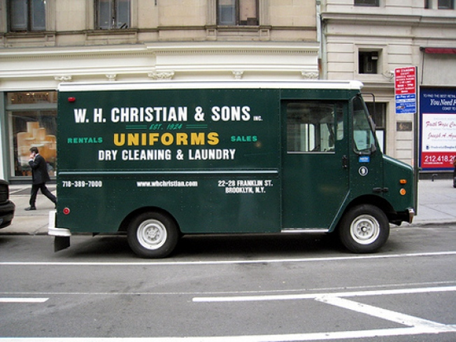 Ads on Wheels: The Dry-Cleaning Van Straight Out of Mad Men