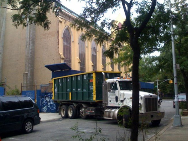 St. Brigid's Cleanup Begins, Entire Back Wall Coming Down