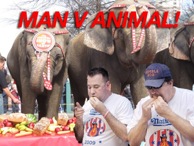 Man to Battle Beast in July 3 Bun Eating Contest!