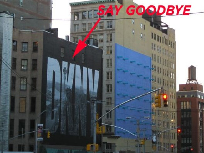 Soho Shocker: Iconic DKNY Wall Disappearing, Going Gray