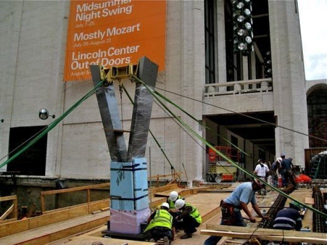 New Canopies at Lincoln Center Ready for Take Off