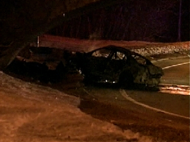 Three Young Men Die In Fiery LI Crash