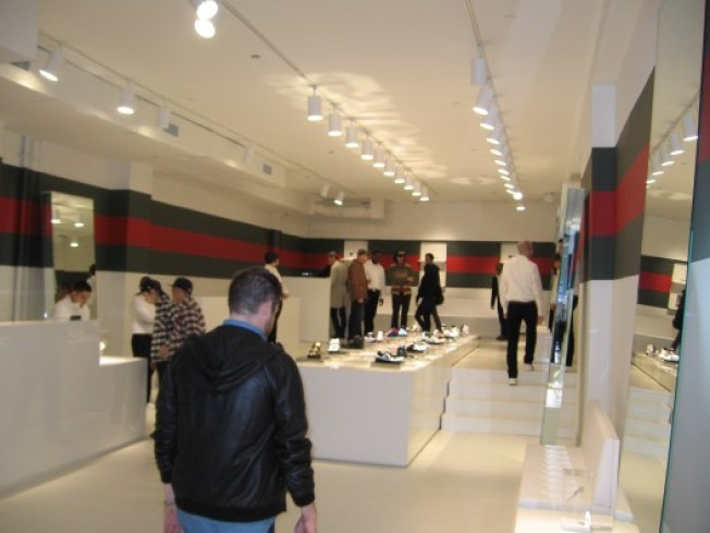 Gucci Finally Opens, Few Notice
