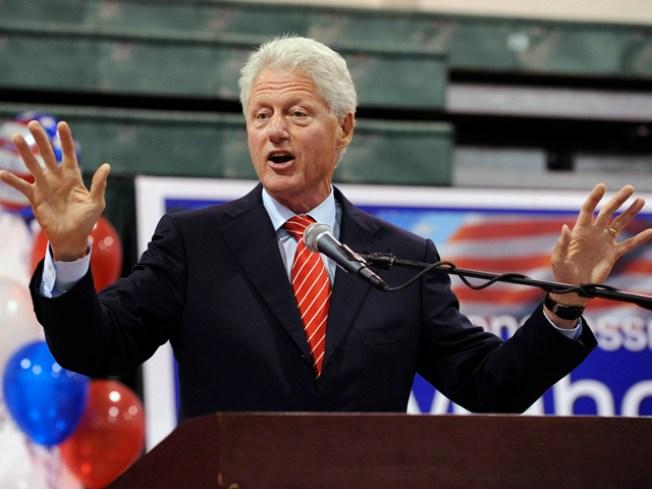Bill Clinton Stumps in Staten Island