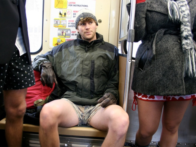 Pants Off On the Subway