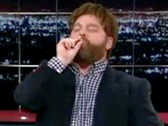 Pot Topic: Zach Galifianakis' On-Air Joint Has Speculation Buzzing