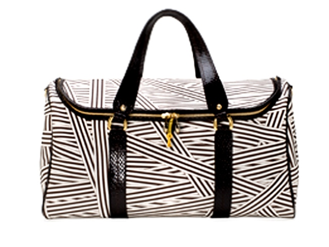 Henri Bendel's Striped Duffel