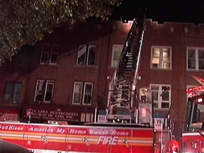 Fire Roars Through Brooklyn Church