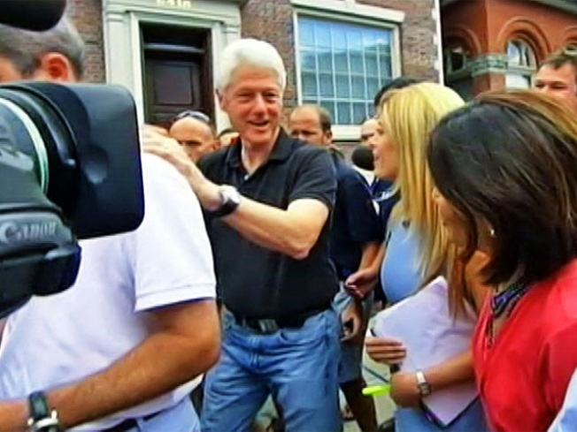 Clinton Sighting in Rhinebeck on Eve of Wedding