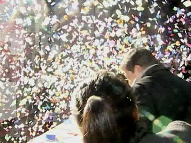 New Year's Confetti Tested for Big Day