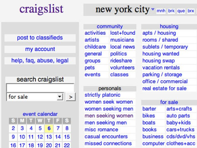 Nypd Cuts Back On Craigslist Cops Nbc New York