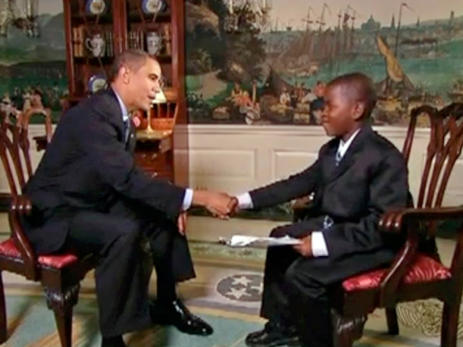 Child's Play: Cub Reporter Bags Obama