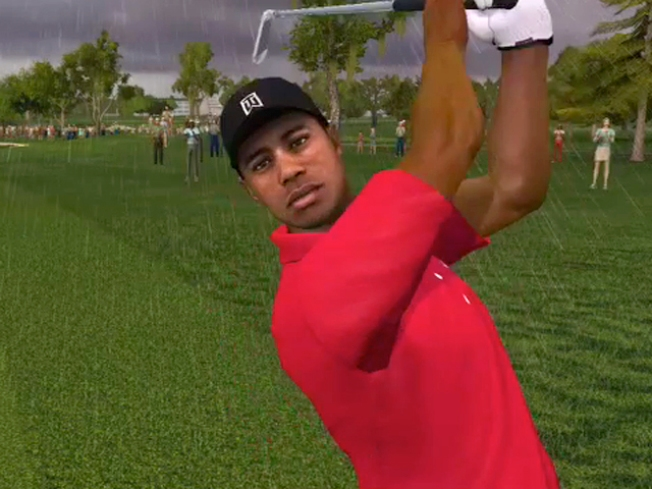 Electronic Arts Standing Behind Tiger Woods