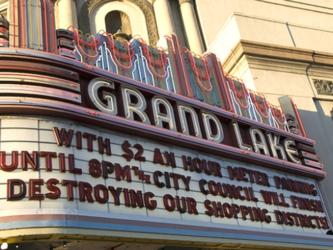 """Oakland Parking Laws Make It """"Illegal"""" to Watch a Movie"""