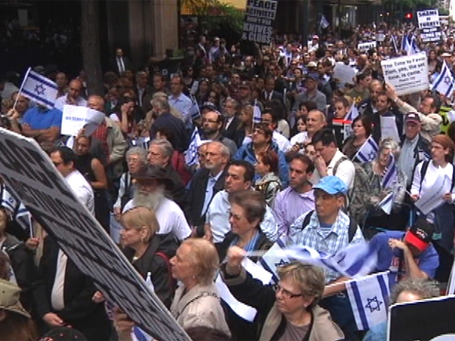 "Gaza Situation ""Unsustainable"" Ralliers Cry at Israeli Consulate"