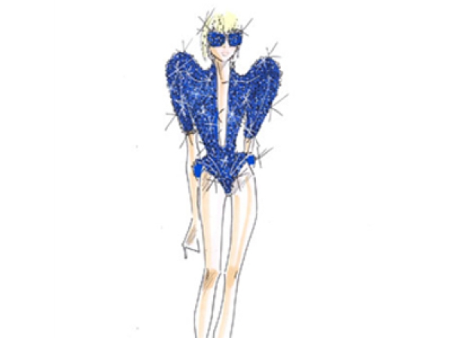 Giorgio Armani Makes Costumes for Gaga