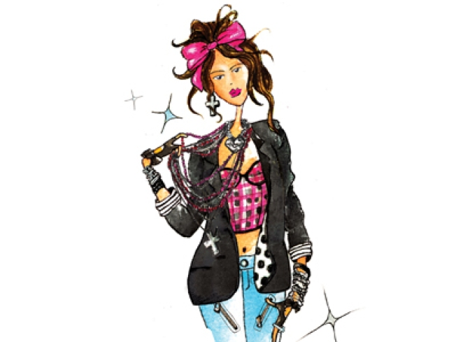 First Look: Sketches of Madonna's Material Girl Collection for Macy's