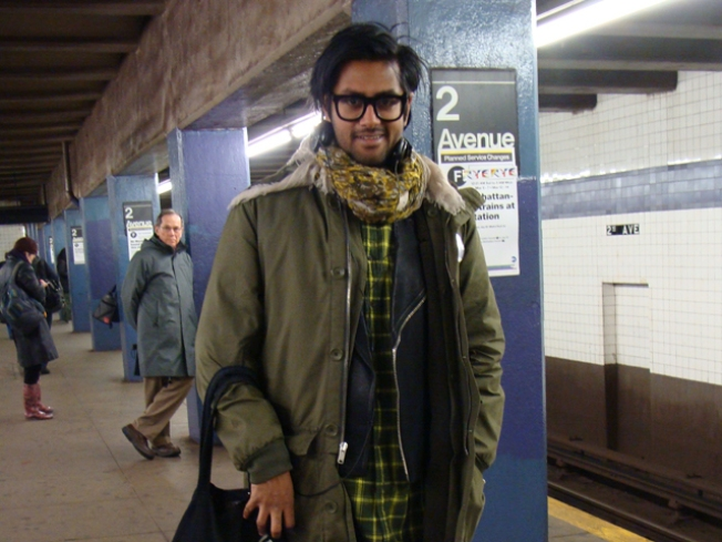 Subway Street Style: Mansoor Amjed at Second Ave