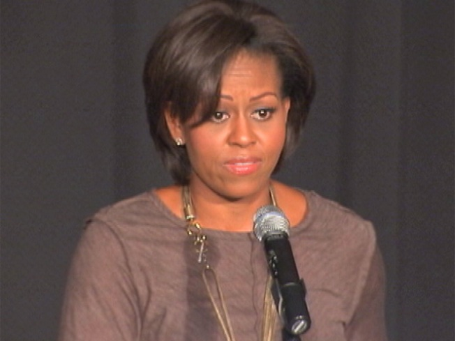 First Lady Takes Food Message to Newark Kids